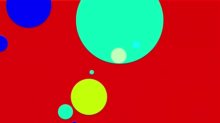 sobreposição : simple abstract 4k looped flat style background with circles change their size, overlap each other, red yellow orange gradient background. Minimalist design. Luma matte as alpha channel 2 Vídeos