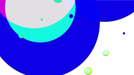 sobreposição : simple abstract 4k looped flat style background with circles that change their size, overlap each other, where they change colors, on white background. Minimalist design. Luma matte as alpha channel