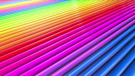 Abstract 3d seamless bright rainbow colors background in 4k. Multicolored gradient stripes move cyclically in simple cartoon creative style. Looped smooth animation.