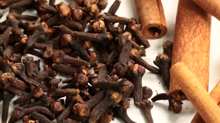 tempero : fine spices sticks of dry cinnamon as part of aromatic flavoring food