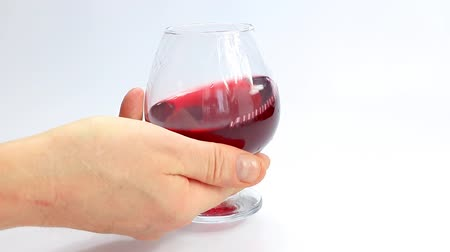 degustation : red wine in a glass