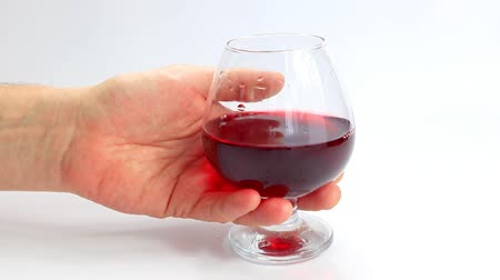 goblet : red wine in a glass