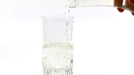 clear liquid : pouring clean water