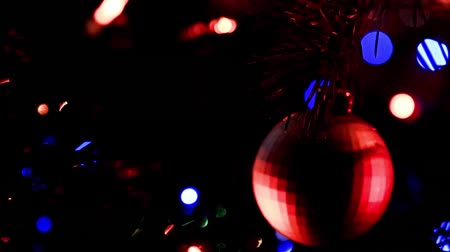 ornamento : festive illumination and glass toys Stock Footage