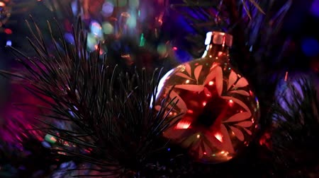bola de fogo : festive illumination and glass toys Stock Footage