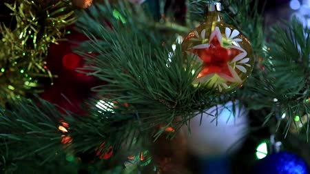 ornamento : Christmas tree illumination Stock Footage