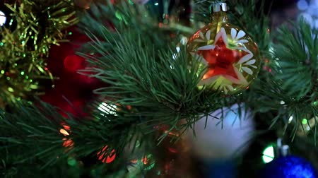 bola de fogo : Christmas tree illumination Stock Footage