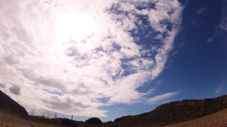 nearly : Timelapse of clouds moving almost on blue sky
