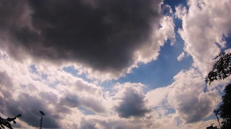 nearly : Timelapse of clouds moving on blue sky Stock Footage