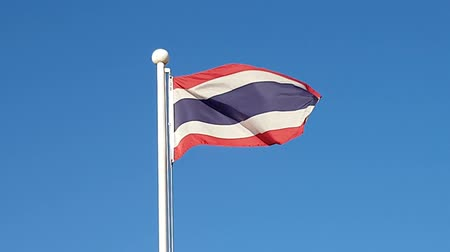 north korean flag : Thailand Flag Waving in Air of South Korea.