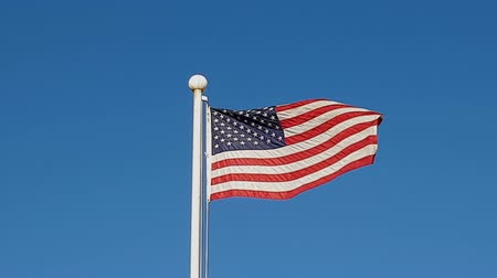 north korean flag : USA Flag Waving in Air of South Korea.