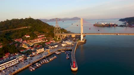 jeollanamdo : Aerial View of Cablecar and Lighhouse at Yeosu, Jeollanamdo, South Korea, Asia