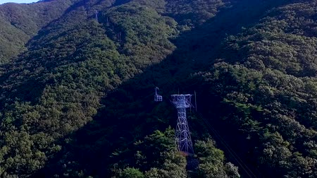 observatory : Aerial View of Duryunsan Cablecar, Haenam, Jeollanamdo, South Korea, Asia Stock Footage