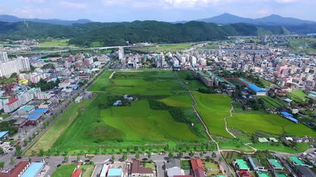 ulsan : Aerial View of Eonyang Eupseong Fortress, Ulju, Ulsan, South Korea, Asia