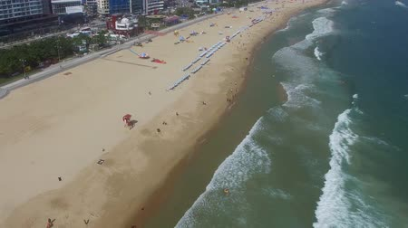 hmota : Aerial View of Summer Haeundae Beach ,, Busan, South Korea Asia