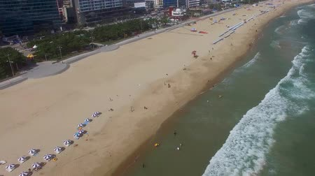 日傘 : Aerial View of Summer Haeundae Beach ,, Busan, South Korea Asia