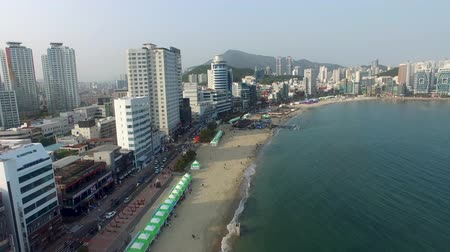 metropolitní : Aerial View of Eobang Fishing Festival, Gwangalli Beach, Busan, South Korea, Asia.