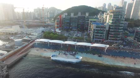 peoples : Many Peoples in Minrak Seaside Park, Gwangalli, Busan, South Korea, Asia