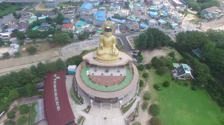 神社 : Aerial view of Hongbeopsa Temple, Busan, South Korea, Asia