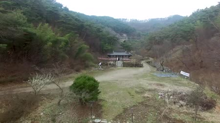 chosun : Aerival View of Yeondongsa Buddhist Temple, Damyang, Jeonnam, South Korea, Asia.