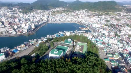 tongyeong : Aerial View of Tongyeong, Gyeongnam, South Korea, Asia.