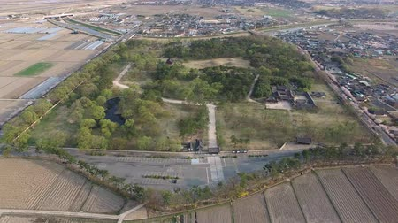 Aerial View of Oreung Ancient Tomb of Gyeongju, Gyeongnam, South Korea, Asia. Wideo