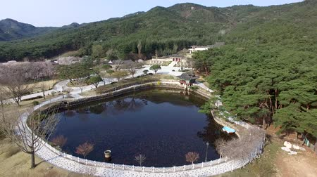 Aerial View of Tongiljeon in Gyeongju, Gyeongbuk, South Korea, Asia.