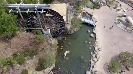 reservoir : Aerial View of Cherry Blossoms Blooming in Bomun Park, Gyeongju, South Korea, Asia.