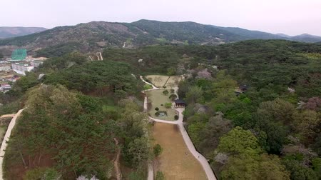 korejština : Aerial View of Gochang Eupseong Fortress, Jeonbuk, South Korea, Asia Dostupné videozáznamy