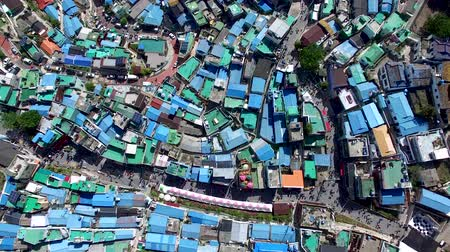 peoples : Aerial View of Lotus Lantern Festival in Samgwangsa Buddhist Temple, Busan, South Korea, Asia
