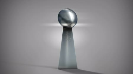 trofej : American football silver trophy with move from high to low