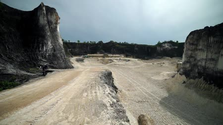 madura : Quarry in Indonesia Madura island Goa Kapur
