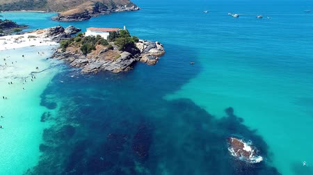 sand paper : Cabo Frio, Rio de Janeiro, Brazil: Aerial view of a blue sea and clear weather. Japanese Island and Fortes Beach. Fantastic landscape. Great beach scene. Vacation travel. Travel destination. Caribbean sea. Tropical travel. Panoramic view.