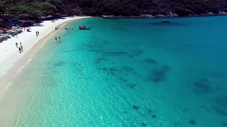 kokosový ořech : Arraial do Cabo, Brazil: Aerial view of a blue sea and clear weather. Fornos beach. Fantastic landscape. Great beach scene. Vacation travel. Travel destination. Caribbean sea. Tropical travel. Paradisiac beach. Dostupné videozáznamy