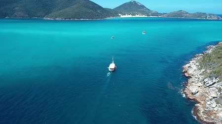 sand paper : Arraial do Cabo, Brazil: Aerial view of a blue sea and clear weather. Pontals beaches. Fantastic landscape. Great beach scene. Vacation travel. Travel destination. Caribbean sea. Tropical travel. Panoramic view.