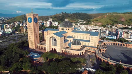 grão : Aerial view of the Shrine of Our Lady of Aparecida, Aparecida, S? O Paulo, Brazil. Patroness of Brazil. Church, temple, religion, faith.