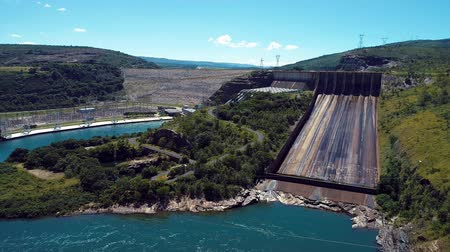 mg : Aerial view of Furnass Hydroelectric, Minas Gerais, Brazil. Energy generation. Furnass dam. Capitolios lagoon. Travel destination. Tropical travel. Tourism point.