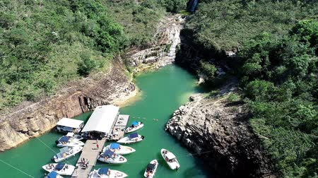 minas gerais : Aerial view of Blue Lagoon of Capitol with beatiful landscape. Capitolio, Minas Gerais, Brazil. Furnass dam. Tropical travel. Travel destination. Vacation travel.