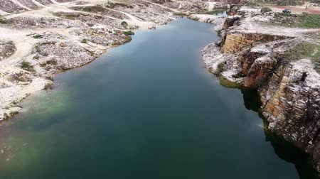 mg : Aerial view of quarry in Capitolio with beatiful landscape, Minas Gerais, Brazil. Furnass dam. Tourism point. Tropical travel. Travel destination.
