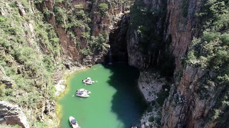 furnas : Aerial view of famous Canyons of Capitolios lagoon. Capitolio, Minas Gerais, Brazil. Beauty landscape. Furnass dam. Tropical travel. Travel destination. Vacation travel.