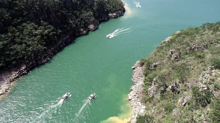 furnas : Aerial view of Capitolios lagoon with beatiful landscape, Minas Gerais, Brazil. Furnass dam. Tropical travel. Travel destination. Vacation travel.
