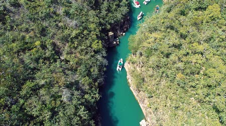 furnas : Aerial view of Valley of the Toucans with a beautiful canyons. Capitolio, Minas Gerais, Brazil. Furnass dam. Tropical travel. Travel destination. Vacation travel.