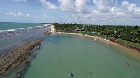 いかだ : Muro Altos Beach, Porto de Galinhas, Brazil: Travel destination. Vacation travel. Tropical travel. 動画素材