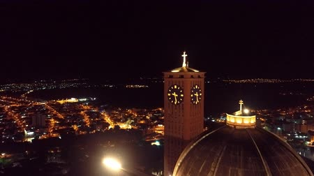 un : Aerial view of the Sanctuary of Our Lady Aparecida, Aparecida, Sao Paulo, Brazil. Patroness of Brazil. Church, temple, religion, faith.