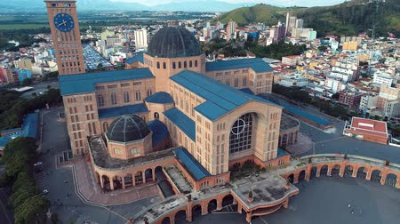 un : Aerial view of the Shrine of Our Lady Aparecida, Aparecida, Sao Paulo, Brazil. Patroness of Brazil. Catholic church. Catholic Religion.
