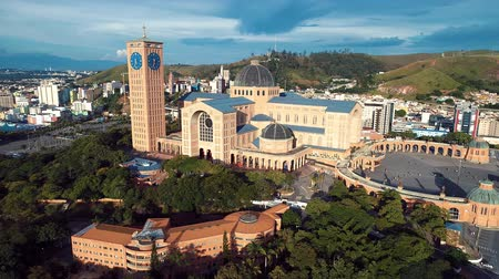 padre : Aerial view of the Shrine of Our Lady Aparecida, Aparecida, Sao Paulo, Brazil. Patroness of Brazil. Catholic church. Catholic Religion.