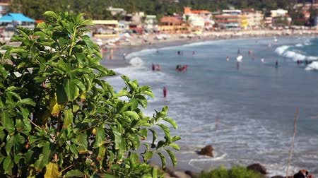 View of the tropical beach of Kovalam, Kerala, India