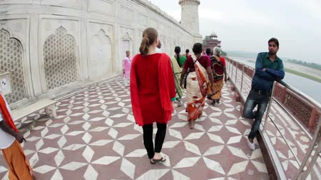 Taj Mahal in India Wideo