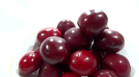 close up cherry presentation  Stock Footage