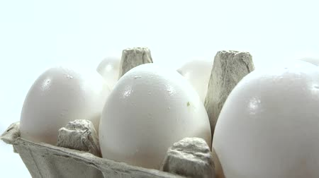 very close up eggs presentation  Stock Footage